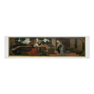 The Annunciation, predella panel from an altarpiec Poster