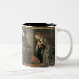 The Annunciation, predella panel from an altarpiec Two-Tone Coffee Mug