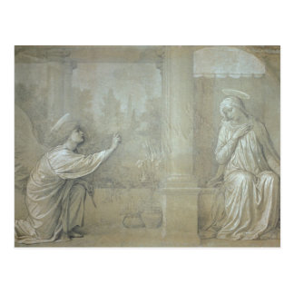 The Annunciation, preparatory cartoon for the Capp Postcard