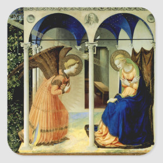 The Annunciation Square Stickers