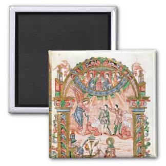 The Annunciation to the Shepherds 2 Inch Square Magnet