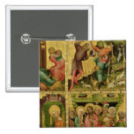 The Annunciation to the Shepherds 2 Inch Square Button