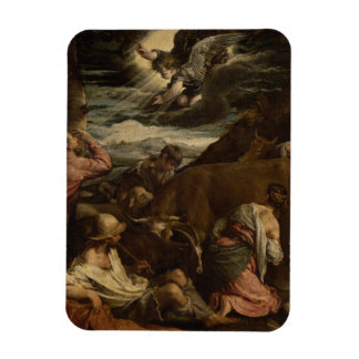 The Annunciation to the Shepherds, c.1557-8 Rectangular Magnet