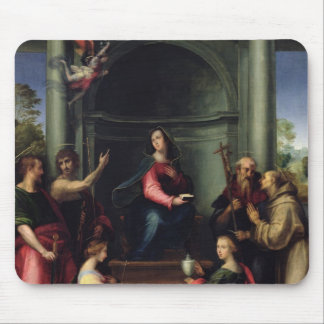The Annunciation with Saints, 1515 Mouse Pad