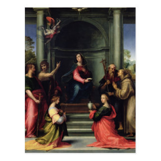 The Annunciation with Saints, 1515 Postcard