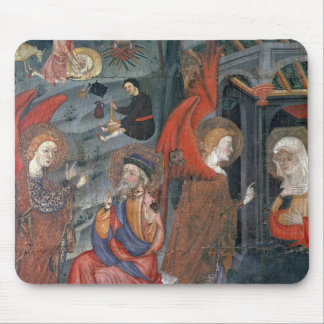 The Annunciation with Shepherds Making Cheese in t Mouse Pad