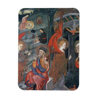The Annunciation with Shepherds Making Cheese in t Vinyl Magnet