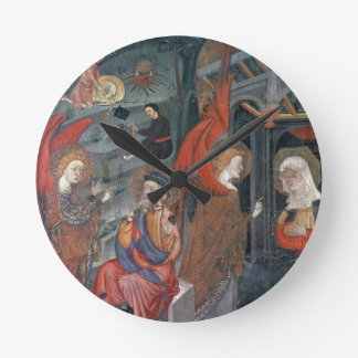 The Annunciation with Shepherds Making Cheese in t Round Clock