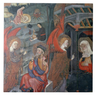 The Annunciation with Shepherds Making Cheese in t Tile
