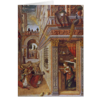 The Annunciation with St. Emidius, 1486 Card