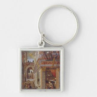The Annunciation with St. Emidius, 1486 Keychain