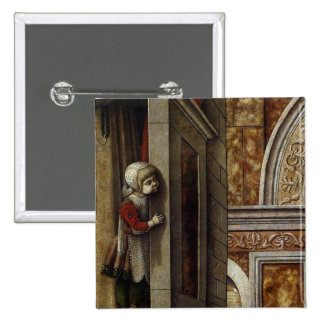 The Annunciation with St. Emidius, 1486 Pinback Button