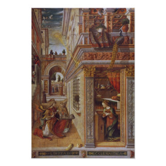 The Annunciation with St. Emidius, 1486 Poster