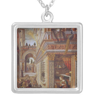 The Annunciation with St. Emidius, 1486 Silver Plated Necklace