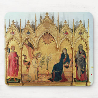 The Annunciation with St. Margaret and St. Mouse Pad