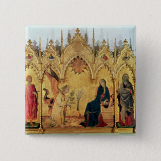 The Annunciation with St. Margaret and St. Pinback Button