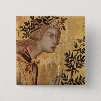 The Annunciation with St. Margaret Pinback Button