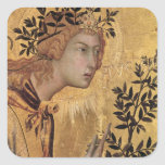 The Annunciation with St. Margaret Square Stickers