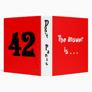 The answer is . . . binder