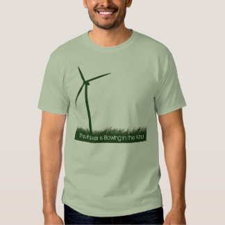 The answer is blowing in the wind shirt