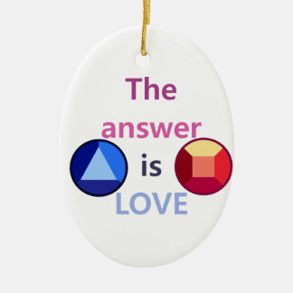 The Answer is Love (v1) Ceramic Ornament