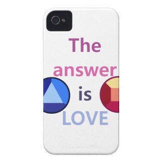 The Answer is Love (v1) iPhone 4 Case-Mate Case