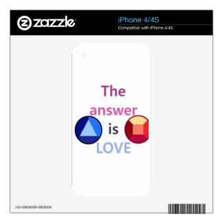 The Answer is Love (v1) iPhone 4S Decal