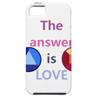 The Answer is Love (v1) iPhone SE/5/5s Case