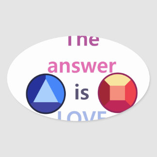 The Answer is Love (v1) Oval Sticker