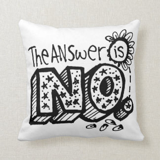 The Answer Is Yes/No Flip Throw Pillow