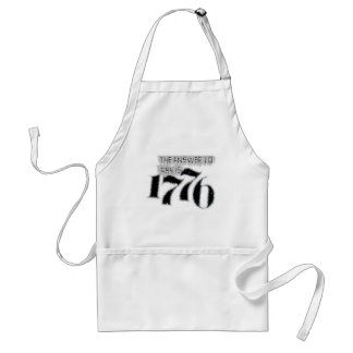 The Answer to 1984 is 1776 Adult Apron