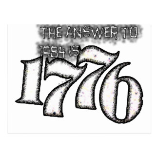 The Answer to 1984 is 1776 Postcard