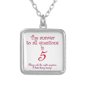 The answer to all questions is 5 silver plated necklace