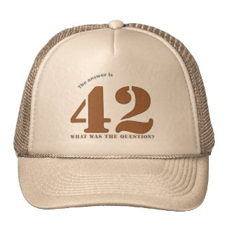 The Answer to Everything cap Hat