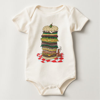 The Ant and the Big Sandwich Baby Bodysuit
