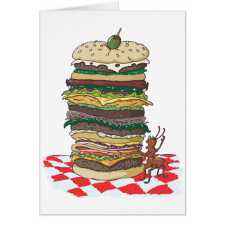 The Ant and the Big Sandwich Card