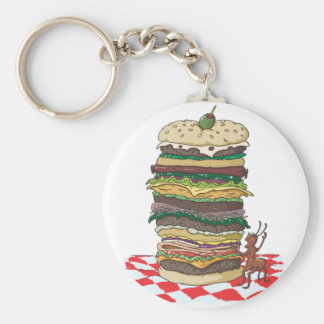 The Ant and the Big Sandwich Keychain