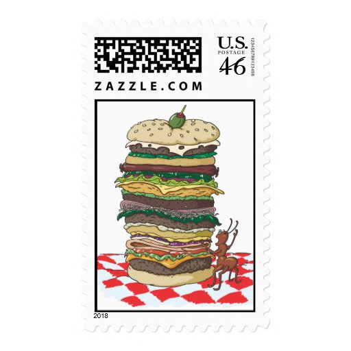 The Ant and the Big Sandwich Stamps