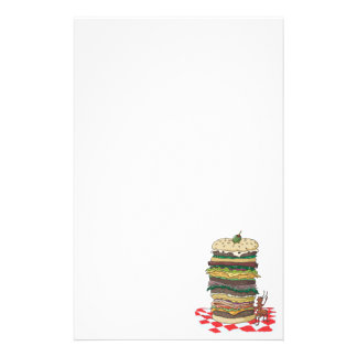 The Ant and the Big Sandwich Stationery
