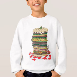 The Ant and the Big Sandwich Sweatshirt