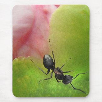 The Ant and the Peony Mousepad