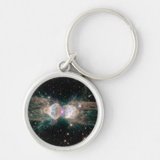 The Ant Nebula Silver-Colored Round Keychain