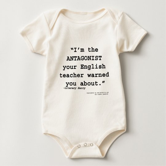 The Antagonist your English teacher warned you Baby Bodysuit