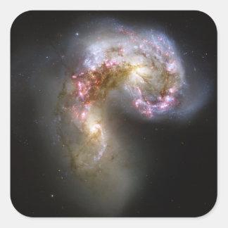 The Antennae galaxies Square Sticker
