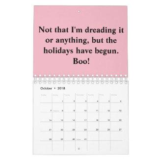 The anti-holiday calendar