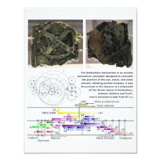The Antikythera Mechanism Diagram Chart Card