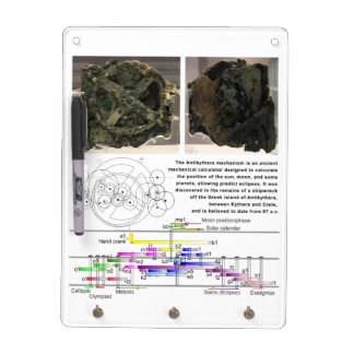The Antikythera Mechanism Diagram Chart Dry Erase Board