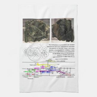 The Antikythera Mechanism Diagram Chart Kitchen Towel
