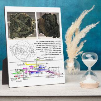 The Antikythera Mechanism Diagram Chart Display Plaque