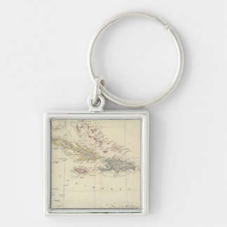 The Antilles or WestIndia Islands Keychains